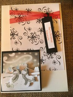 """Xmas Card - Snowmen Decoupage """"Godparents"""" Black White Handmade Handcrafted Merry Christmas Greetings by ASCraftyCreaters on Etsy Merry Christmas Greetings, Christmas Frames, Envelope Design, Snowflake Pattern, Snowmen, Decoupage, Christmas Cards, Card Making, Black White"""
