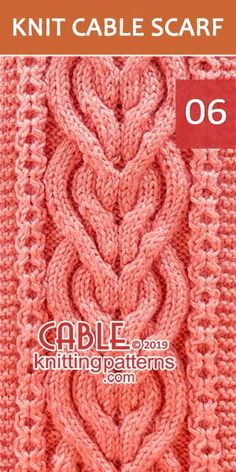 How to knit the Intertwined Heart in Celtic Knot -Free Pattern It is a difficult scarf to make, but definitely worth the effort. Skill level: Advanced knitter and up. Easy Scarf Knitting Patterns, Baby Hats Knitting, Knitting Stitches, Stitch Patterns, Knitting Ideas, Crochet Patterns, Cable Knit Blankets, Celtic Patterns, Celtic Knot