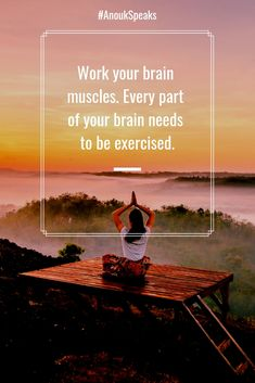 Work your brain muscles. Every part of your brain needs to be exercised. Self Realization, Spiritual Path, Your Brain, Healer, Our Life, Muscles, New Experience, Psychology, The Cure