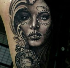 I would love to get the female sugar skull tattoo next. Sexiness.