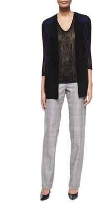 Escada 3/4-Sleeve Embroidered Lace Cardigan, Black - Shop for women's Cardigan