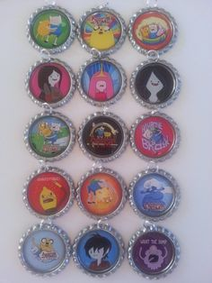 Hey, I found this really awesome Etsy listing at https://www.etsy.com/listing/183836148/15-x-adventure-time-inspired-bottlecap