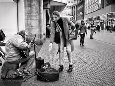 The Kindness of Others Local Hero Street Musician Chuck Deely in Grote Marktstraat The Hague The Netherlands