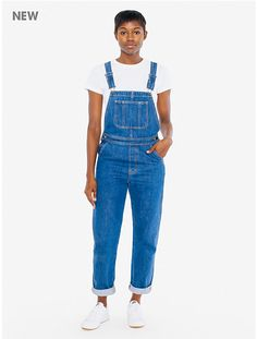 Denim Femme Overall Tomboy Fashion, Fashion Outfits, Denim Overalls, American Apparel, Cute Outfits, My Style, Casual, Indigo Dye, How To Wear