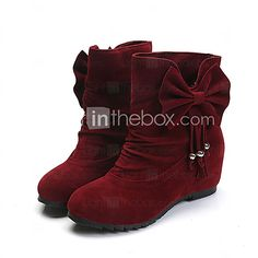 Women's Boots Fall Winter Comfort PU Casual Flat Heel Black Yellow Red Other - USD $16.19 ! HOT Product! A hot product at an incredible low price is now on sale! Come check it out along with other items like this. Get great discounts, earn Rewards and much more each time you shop with us!