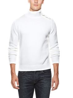 Button Sweater by Faconnable at Gilt