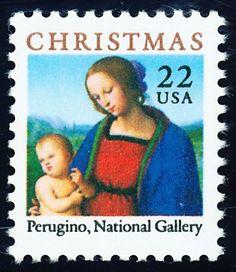 Christmas 1986 - Madonna and Child by Pietro Perugino.