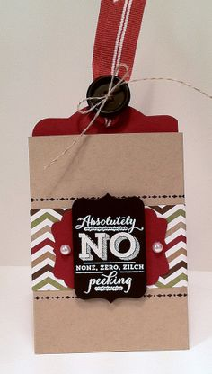 Gift Card/Money Holder for Christmas by stampedsilly on Etsy, $2.00