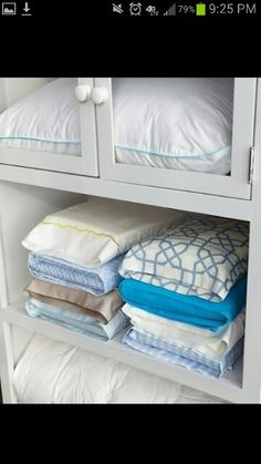 Put matching sheets in pillow case for organization