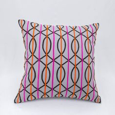 Trellis Pillow cover feature an intricate and contemporary geometric pattern made by hand machine embroidery creates a luxurious pillow that makes a gorgeous accent to any couch.  This pillow cover is available in size 16 x 16, size 18 x 18, size 20 x 20.  Please click drop down menu to the right of image to see sizes available and pricing. Please choose the size and quantity you want when you process the checking.  More gray pillow covers for mix and match are available here…