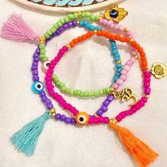 Gypsy bracelet  bohemian bracelet  tassel braceletevil by Nezihe1