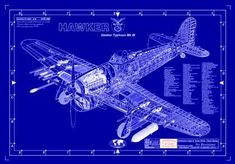 Hawker Typhoon blueprint