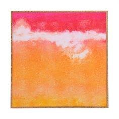 'Tangerine Tie Dye' Framed Painting Print