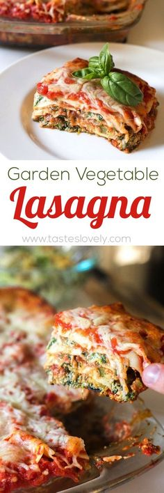 Garden Vegetable Lasagna - vegetarian and freezes beautifully!  Substituted ricotta for cottage cheese. Used Zukes, squash, eggplant and onion. DELICIOUS!!!