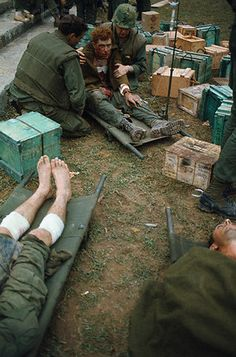 https://flic.kr/p/6EXwTp | U1583334 | 05 Feb 1968, Hue, South Vietnam --- Wounded Marines Receiving Medical Assistance --- Image by © Bettmann/CORBIS