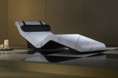 Heated spa loungers from Leisurequip modern contemporary designs for home or your health spas.