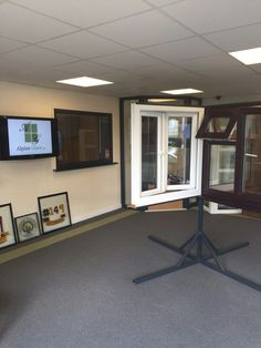 Our showroom transformation ... call in for a look yourself   #showroom #window #doors #makeover #transformation #diy #office #welcome #coffee #solidorange #plants #plant #greenfingers