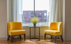 Piękne żółte fotele
