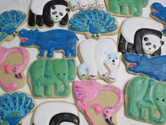 Eric Carle Animals  Decorated Sugar Cookie by MartaIngros on Etsy