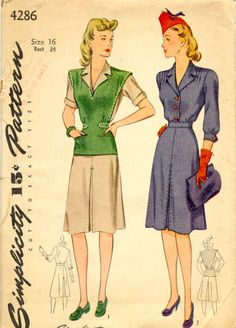 1940's Ladies Outfits