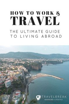 The ultimate guide on how to work and travel the world -- gap year, expat life, study abroad, teachi Travel Jobs, Work Travel, Travel Hacks, Work Abroad, Study Abroad, Travel Around The World, Around The Worlds, Online Travel Agent, Wanderlust