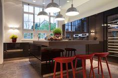 open living room with gallery Minotti, Riva1920, Wetscher, Varenna Kitchen Design Reinhard Strasser
