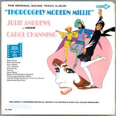 "Film producer #RossHunter developed his own faux-1920s musical for #JulieAndrews, #Thoroughly #Modern #Millie, adding as co-stars #Carol#Channing, the star of the hit Broadway show ""Hello, Dolly!,"" and #MaryTylerMoore, fresh from five seasons as the co-star of TV's popular ""The #DickVanDykeShow."" For the #soundtrack album, #Andrews does her usual sterling job with her lovely voice and careful British articulation, while #Channing enjoys herself as usual. #ThoroughlyModernMillie #Vinyl #LP"