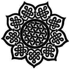 Love this Celtic pattern!  Would make a pretty tattoo, wouldn't it?  Wonder if they make it as a henna tattoo?  Hmmmm ... :)