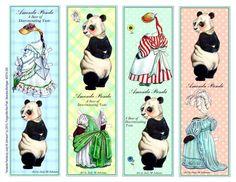 PD Bookmarks- JM Johnsons Amanda Panda