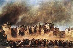 Francesco Guardi, Požár skladu oleje v S. Marcuola, 1789