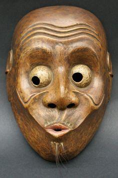 Usobuki Kyogen Mask. Edo Period.