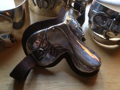 sterling 'n leather saddle cuff