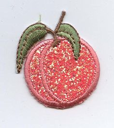 Sparkle Peach Iron on Embroidered Patch Wholesale Applique