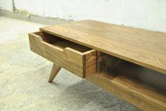 Mid Century Inspired Walnut Coffee Table