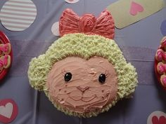 Harpers Lambie cake for her doc mcstuffins party!! Very easy I did this myself and I am not a cake maker at all!!!!