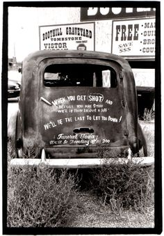 Hearse in Tombstone, AZ by Nikki Lively