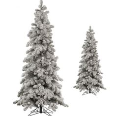 Artificial Christmas Tree 6 FT Heavy Flocked Holiday Snowy Spruce Unlit w/ Stand #Vickerman