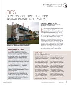 How eifs came to america arthur l sanders aia and for Exterior insulation and finish system