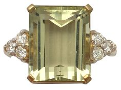 '7.84 ct Citrine and Diamond, 18 ct Yellow Gold Dress Ring - Vintage' http://www.acsilver.co.uk/shop/pc/7-84-ct-Citrine-and-0-32-ct-Diamond-18-ct-Yellow-Gold-Dress-Ring-Vintage-1989-35p9125.htm