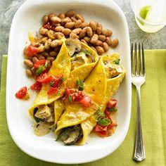 Mushroom and Poblano Vegetarian Enchiladas
