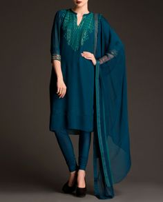 Peacock Blue Anarkali Suit with Embroidered Pattern-loved it India Fashion, Asian Fashion, Emo Fashion, Indian Attire, Indian Wear, Pakistani Outfits, Indian Outfits, Casual Dresses, Fashion Dresses