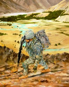 """""""No mountain too high"""" US airborne troop in Iraq during Operation Desert Storm"""