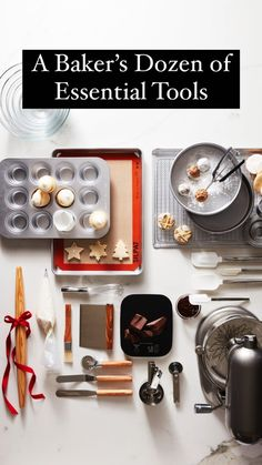 A Baker's Dozen of Essential Tools Cooking Gadgets, Baking Tools, Learn To Cook, Kitchen Essentials, Small Space, Breads, Bakery, Good Food, Foods