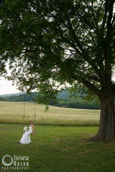 April and Tim » My Blog  wedding swing bride field