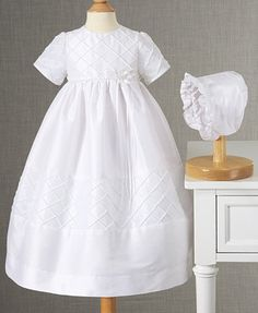 @stavrosmommy ... Do you like this? I love it!! Check out the size chart and let me know what size she would need. Lauren Madison Baby Dress, Baby Girls Diamond Pleated Christening Dress