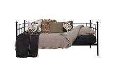 lit banquette en mtal noir 120cm de large idal pour une chambre junior - Lit En 120 Cm De Large