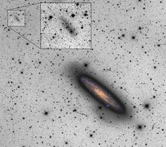 Galactic Space Oddity Discovered - 2/8/2016 - An international team of researchers led by Aaron Romanowsky of San José State University has used the Subaru Telescope to identify a faint dwarf galaxy disrupting around a nearby giant spiral galaxy. The observations provide a valuable glimpse of a process that is fleeting.... http://subarutelescope.org/Pressrelease/2016/02/08/index.html?utm_content=bufferdb1b1&utm_medium=social&utm_source=facebook.com&utm_campaign