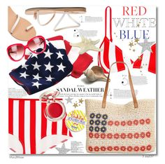 """Red, White & Blue: Celebrate the 4th!"" by octobermaze ❤ liked on Polyvore featuring Solid & Striped, Ancient Greek Sandals, Style & Co., Supergoop!, Barton Perreira and fourthofjuly"