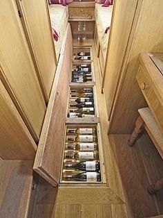 Een wijnkelder in mijn caravan! Heaven!