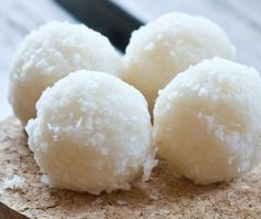 Coconut Heaven Energy Bites- gotta try these! Coconut oil is soooo good for you!